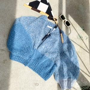 Image of Knit Kit  Kelowna Sweater X Mohair/Merino   wool skeins (+ more colours)