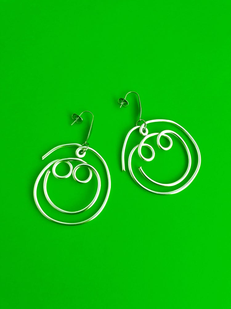 Image of SMALL SMILEY EARRINGS