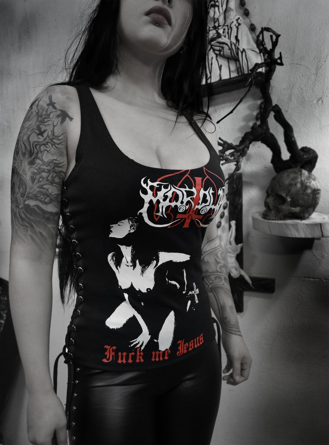 Image of Watain  - Rotting Christ - Marduk Top lace-up on sides - FREE SHIPPING