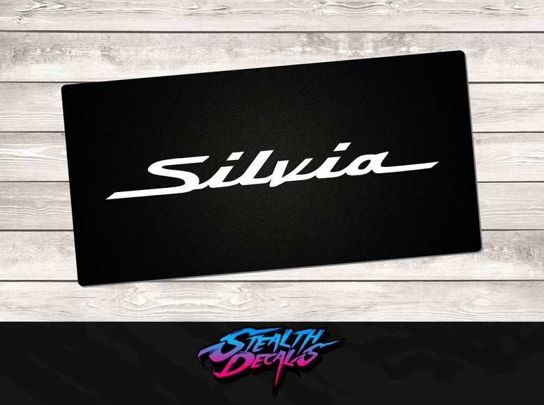 Image of Nissan Silvia S15 Brochure Vanity Plates x2