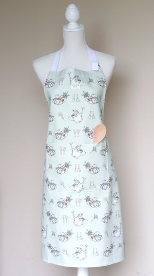 Image of Allotment print apron in sage