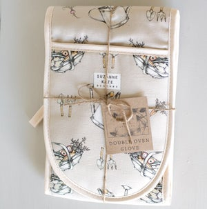 Image of Allotment print double oven glove