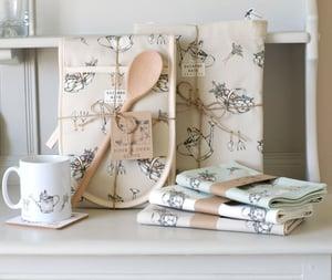 Image of Pair of allotment print Aga hob covers