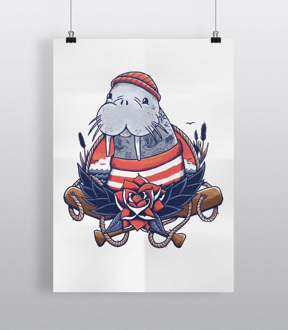 Image of Walrus Sailor - Art Print
