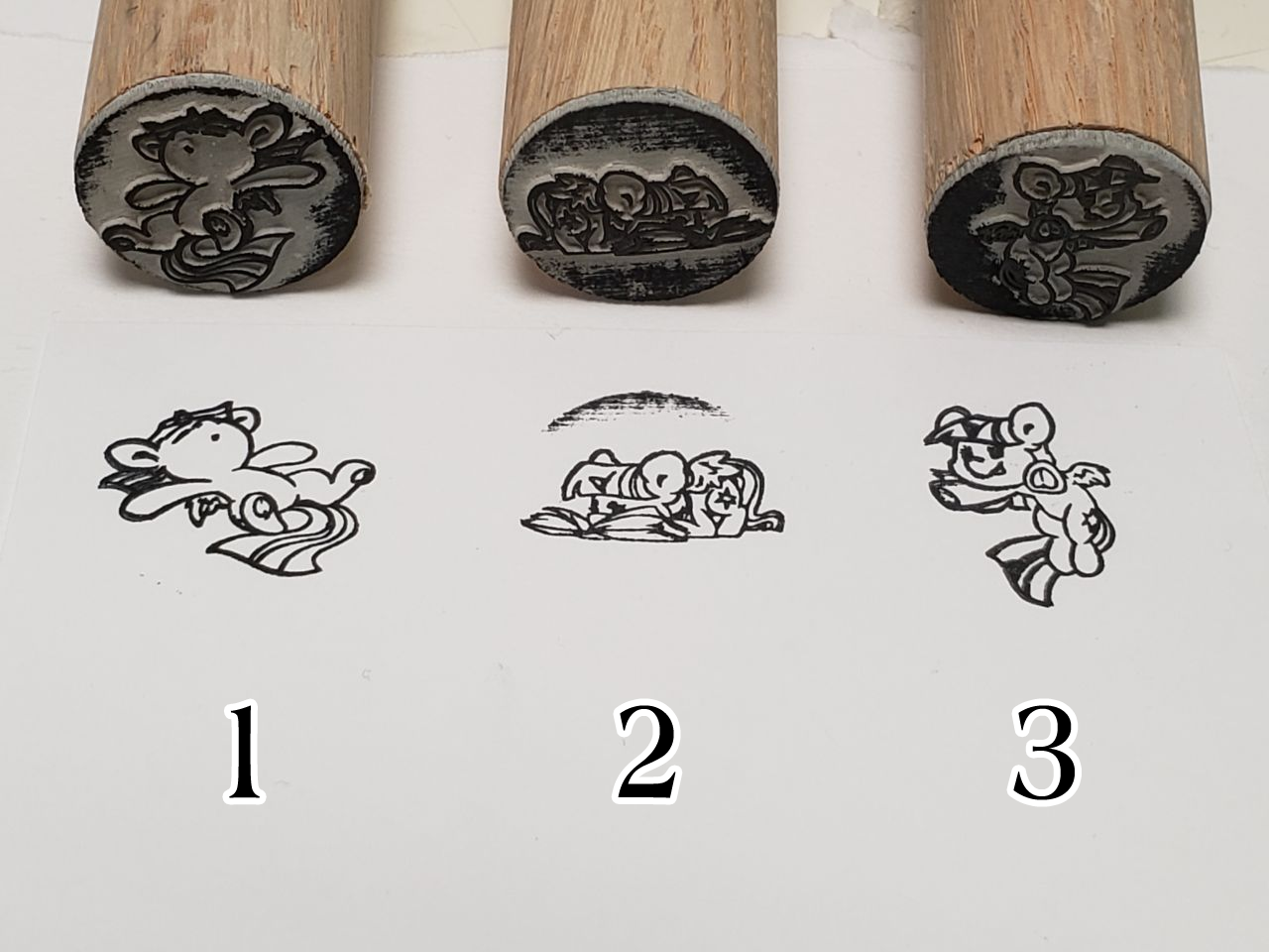 Small Rubber Stamps