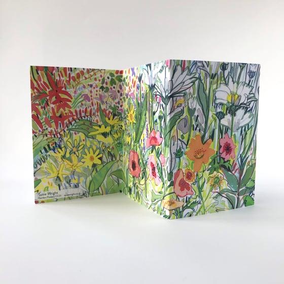 Image of Garden Flowers concertina card