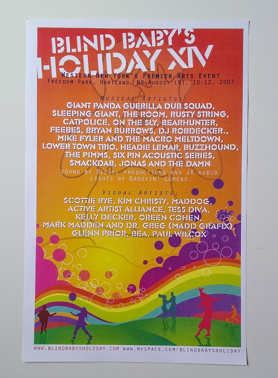 Image of Original Blind Baby's Holiday 14 Poster