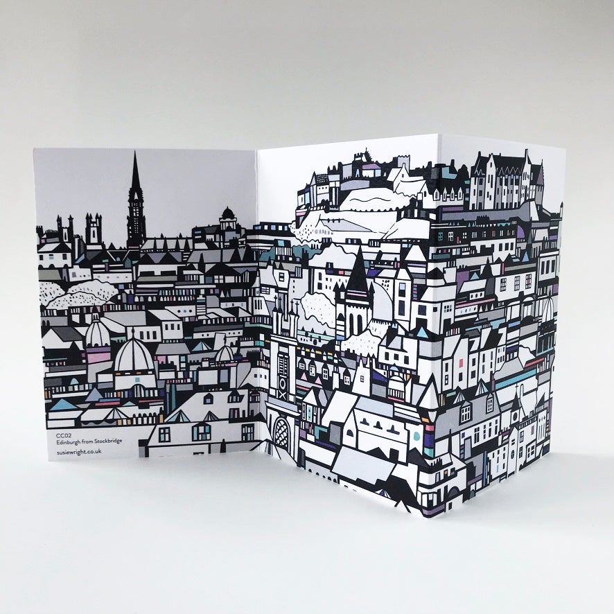 Image of Edinburgh concertina card