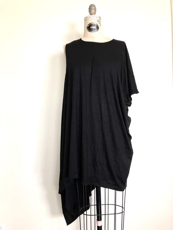 Image of Asymmetric one sleeve drape top