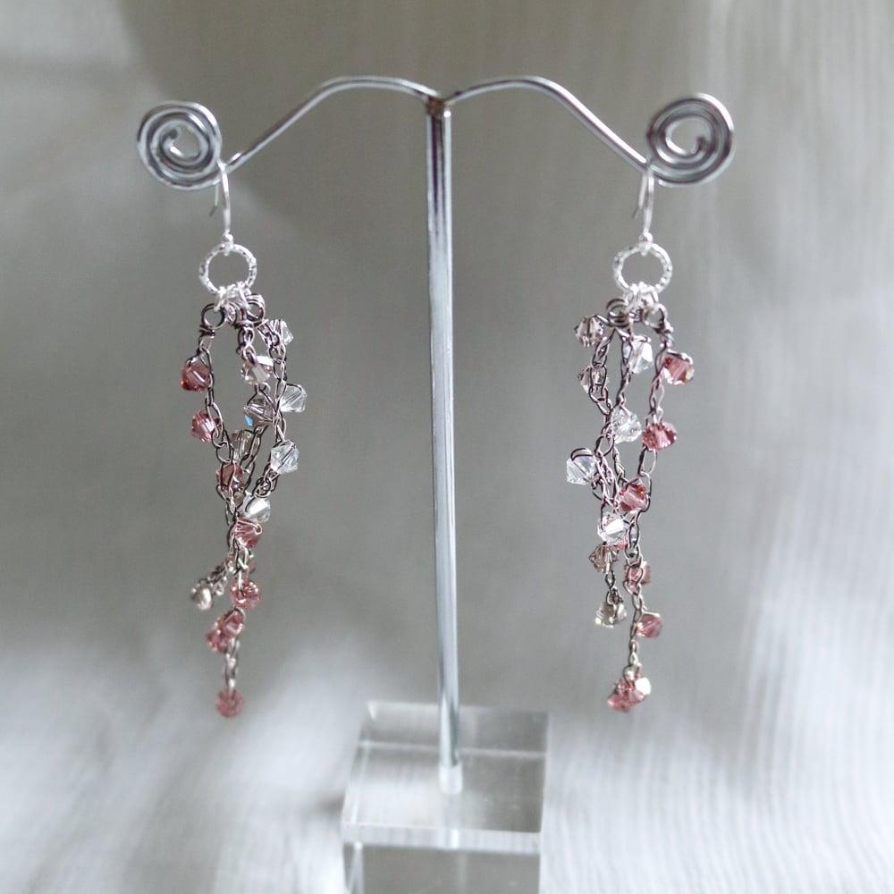 Image of WISTERIA Earrings - Vintage Rose