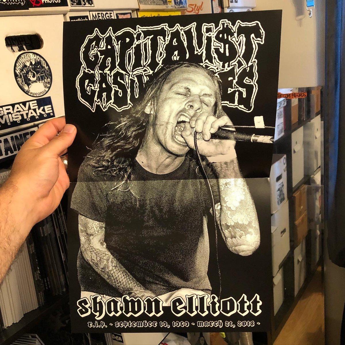"Image of Capitalist Casualties ""R.I.P. Shawn Elliott "" Poster"