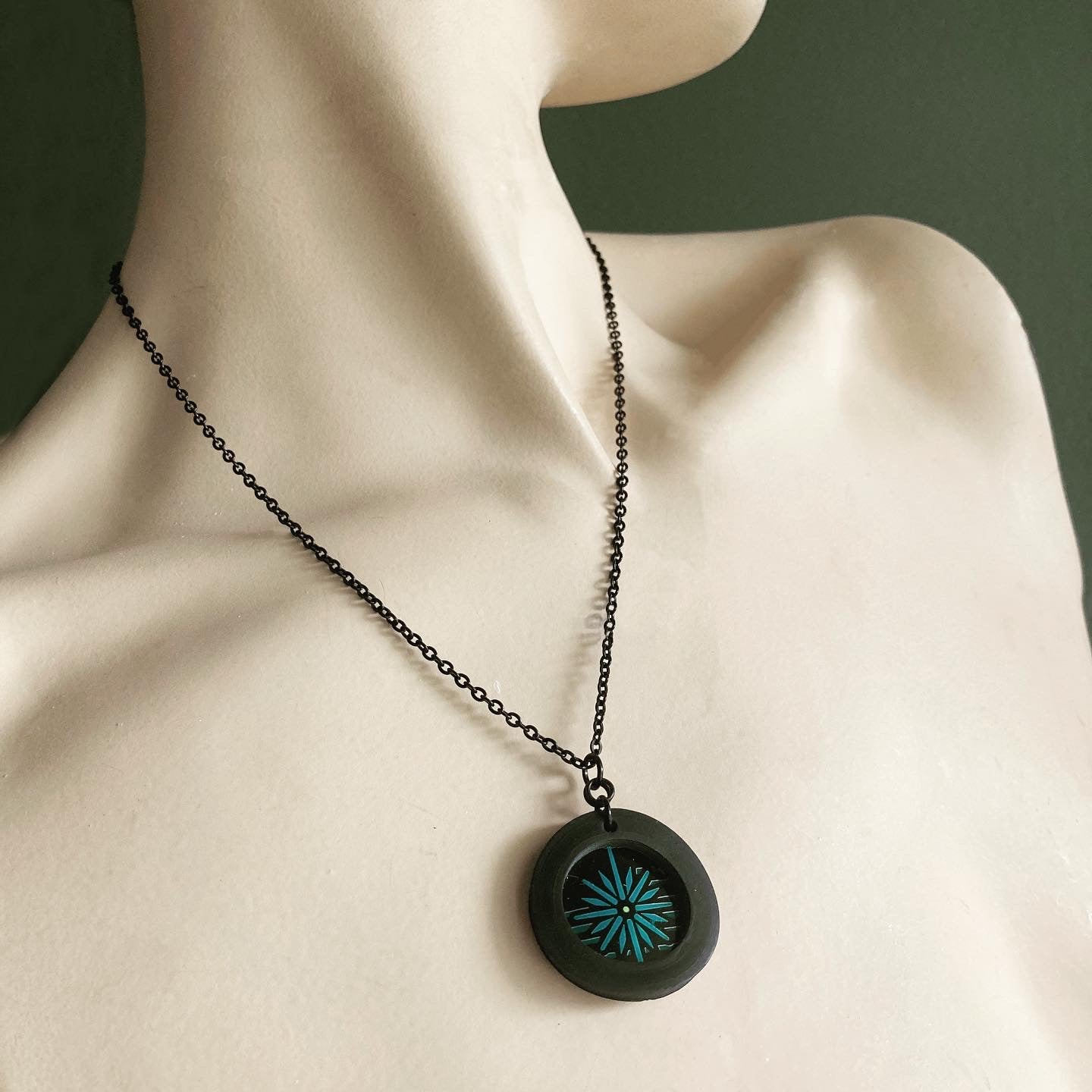 Image of Mini Spot Necklace with Upcycled Stone Brewing Can Artwork