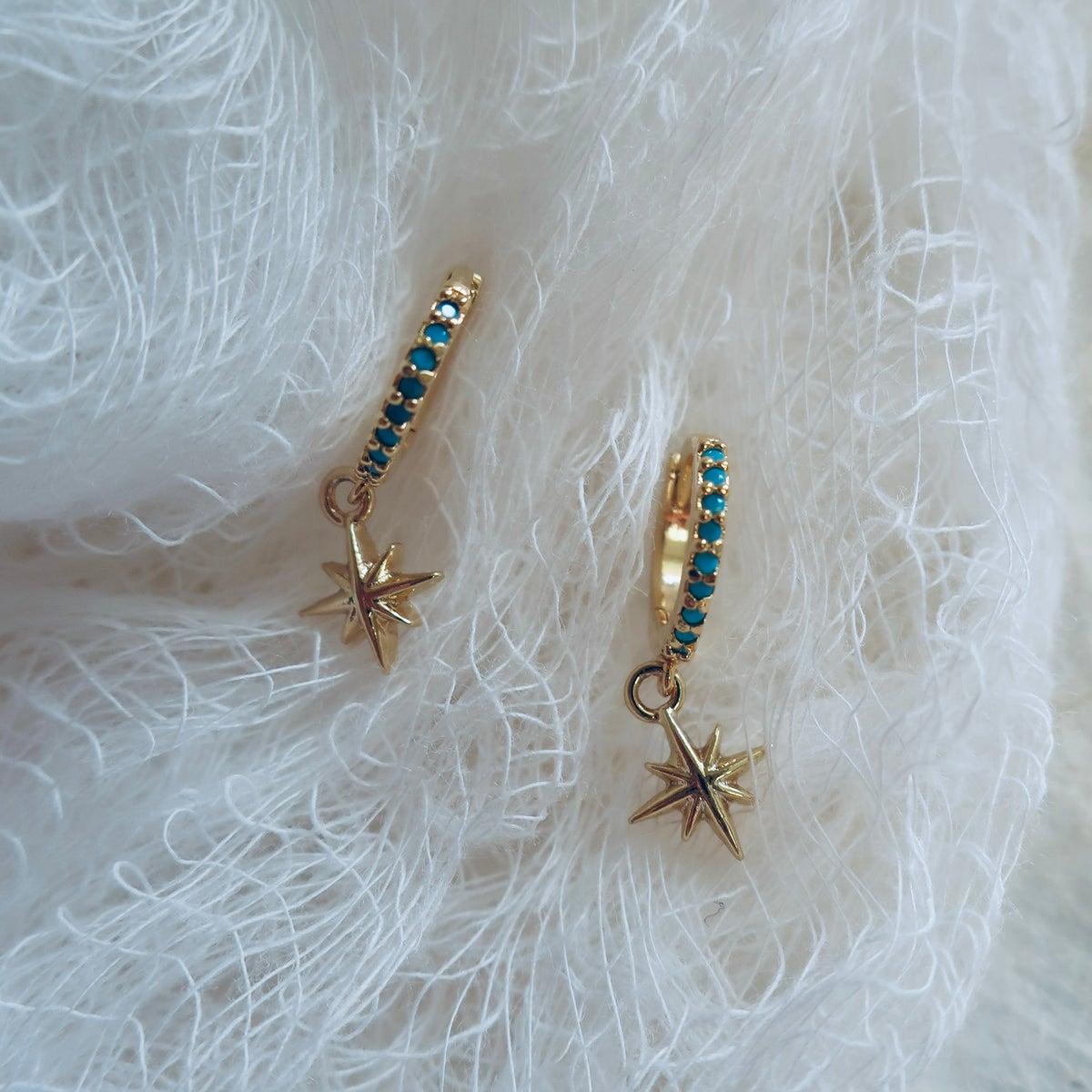 Image of Take on the Night earrings in Turquoise