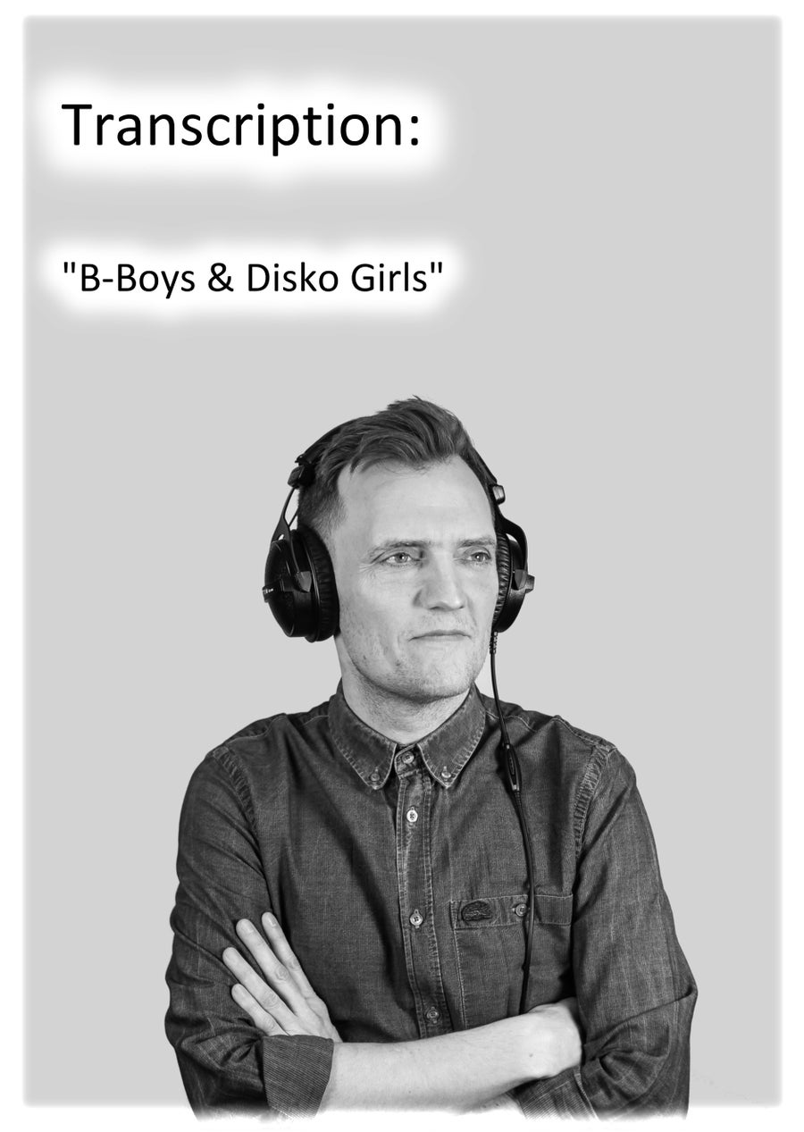 "Image of Transcription: ""B-Boys & Disko Girls"""