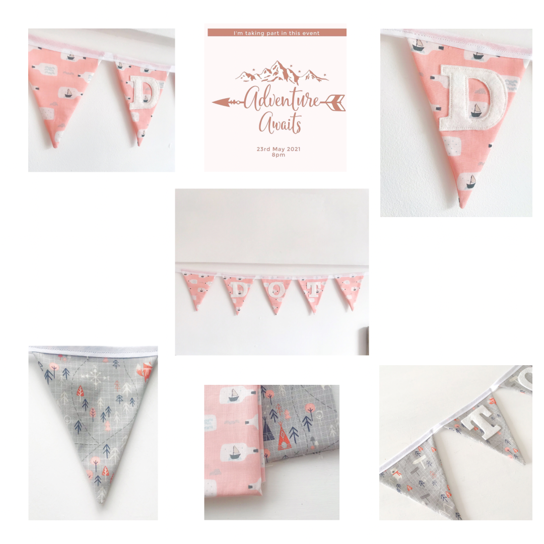 Image of Off on an adventure Personalised Bunting