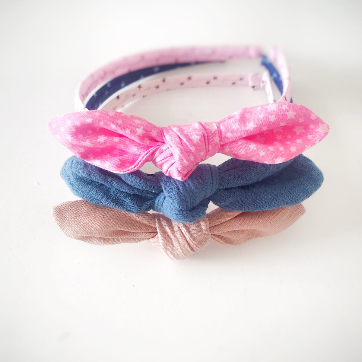 Image of 'Reach For The Stars' Alice Bands With Hand Knotted Bow