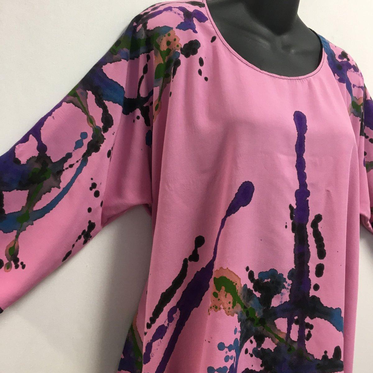 Image of Joy Tunic -Soft Natural Rayon - Hand Painted