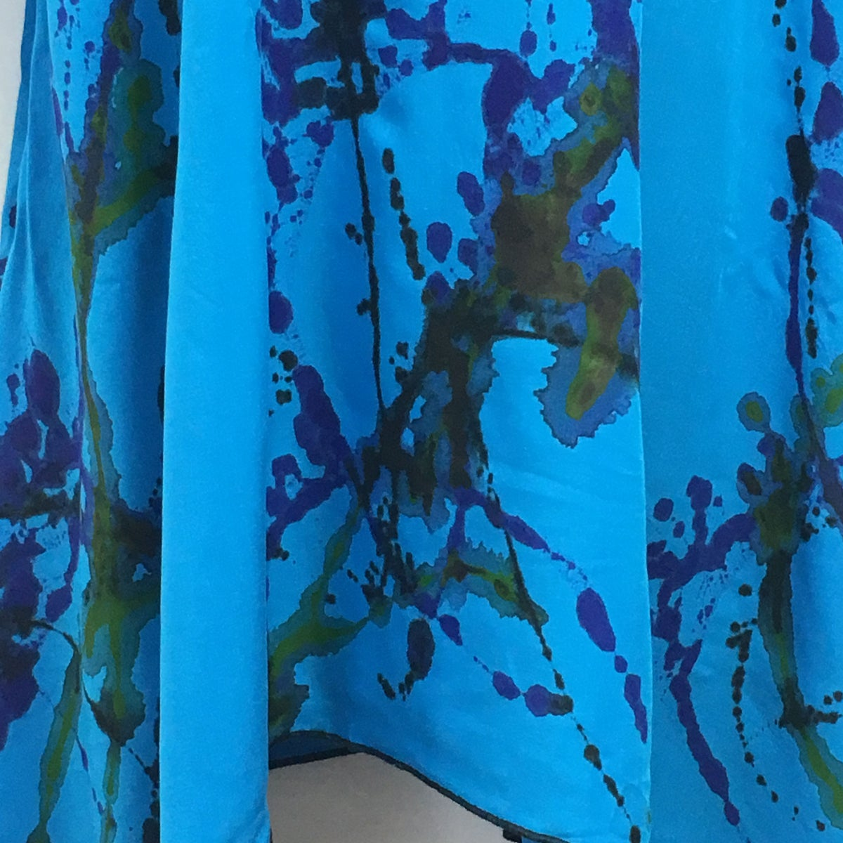 Image of Ultimate Comfort Glam - Silky Rayon - Dress/Tunic - Turquoise - Hand Painted