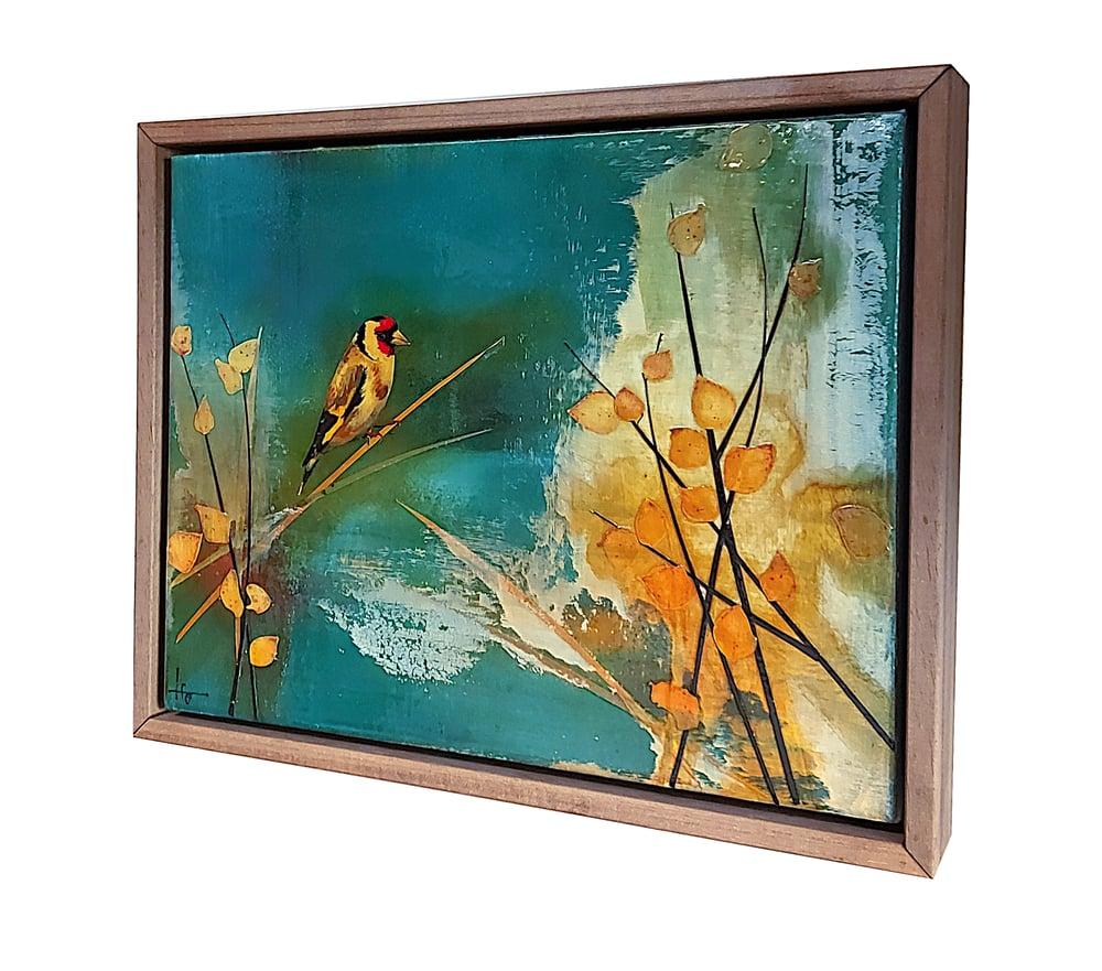 "Image of Original Canvas - Goldfinch in Birch - 11"" x 14"""