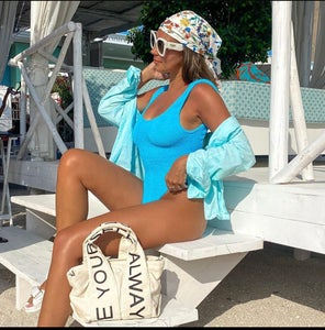 Image of Neon Blue Classic One Piece