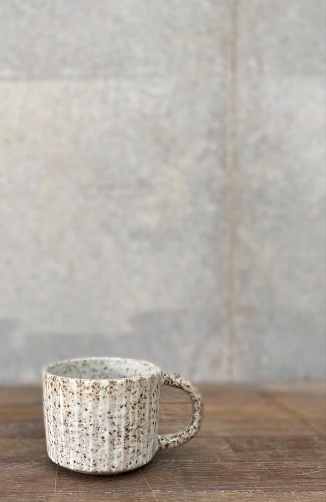 Image of Straight stripe teacup