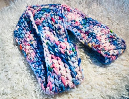 Image of Chunky Unicorn Cowl with a twist.