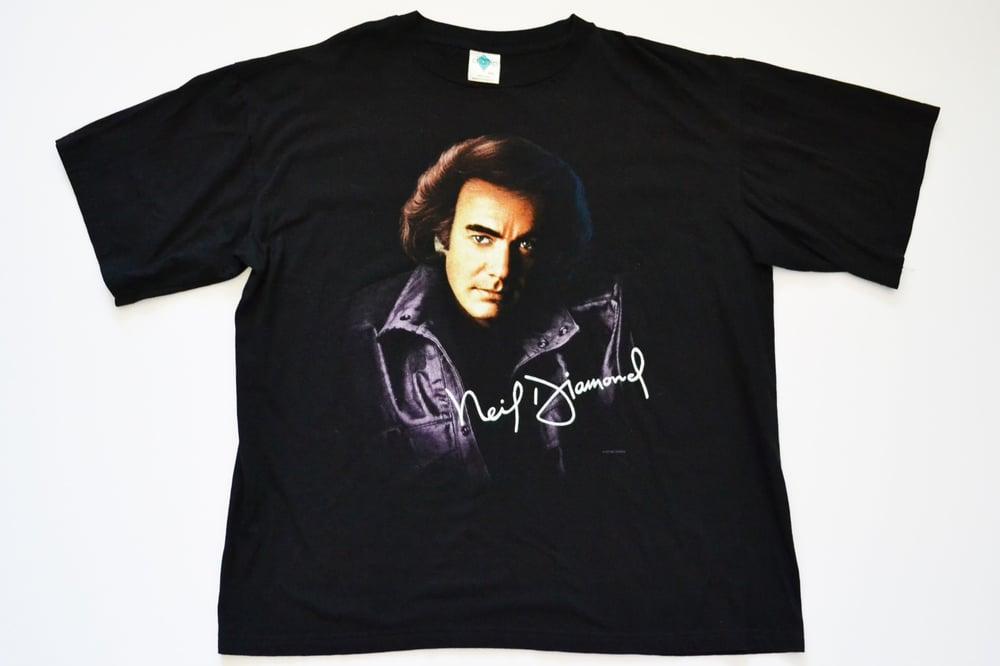 Image of Vintage 1996 Neil Diamond Classic Rock U.S. Concert Tour T-Shirt Sz.XXL