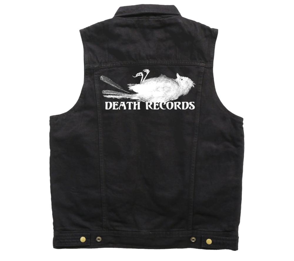 Image of Death Records Black Denim Vest