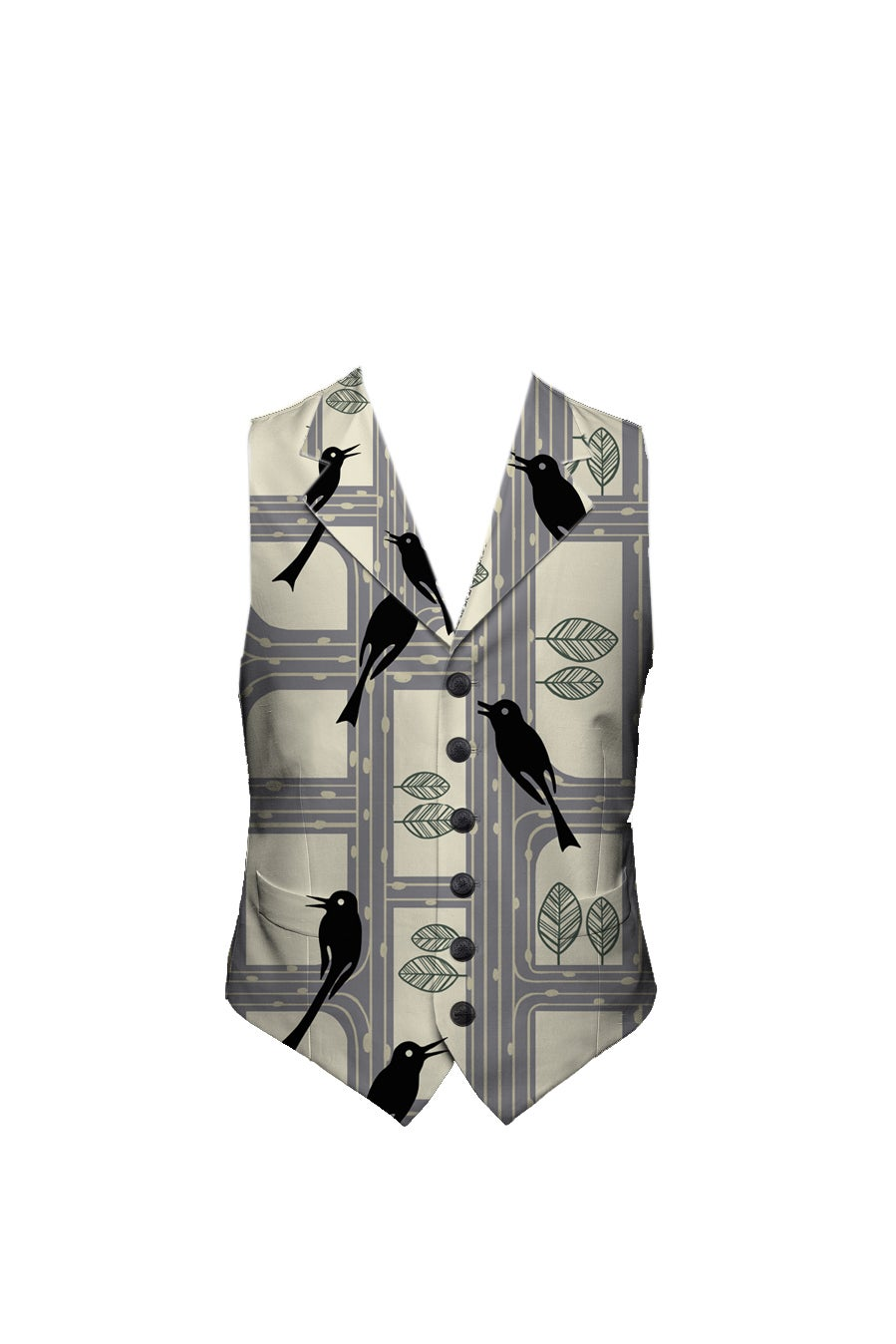 Image of Swan Retro Waistcoat Vest PREORER