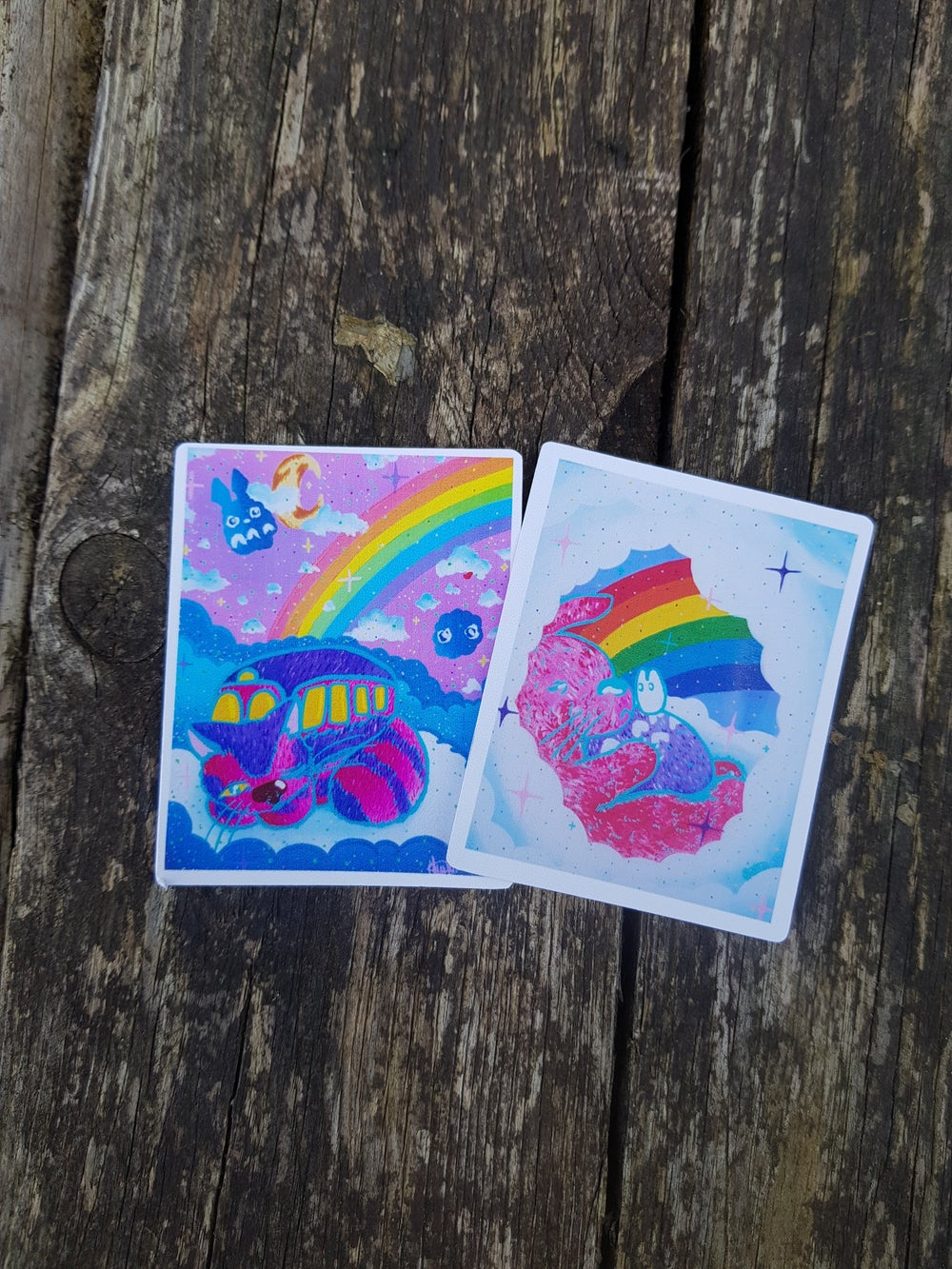 Image of Ghibli glossy holographic stickers