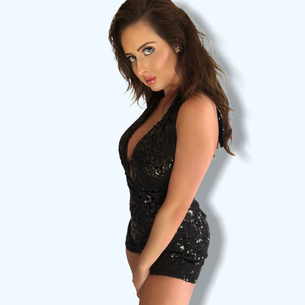 Image of Black Sequin Playsuit
