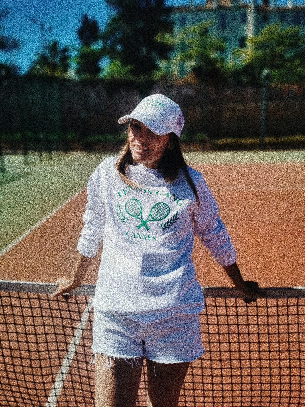 Image of Casquette Néoprène BLANCHE Tennis gang