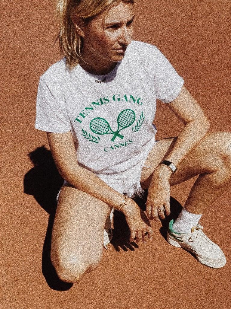 Image of Tee shirt EN COTON BIO  blanc  tennis gang