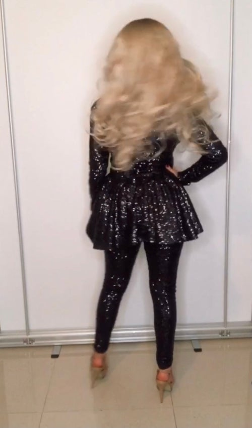 Image of Sequin Peplum Two-Piece Co-Ord