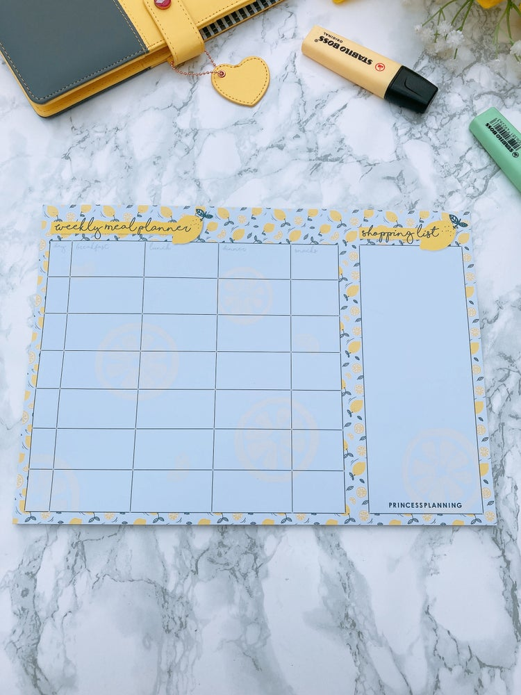 Image of A4 LEMON MEAL PLANNING PAD