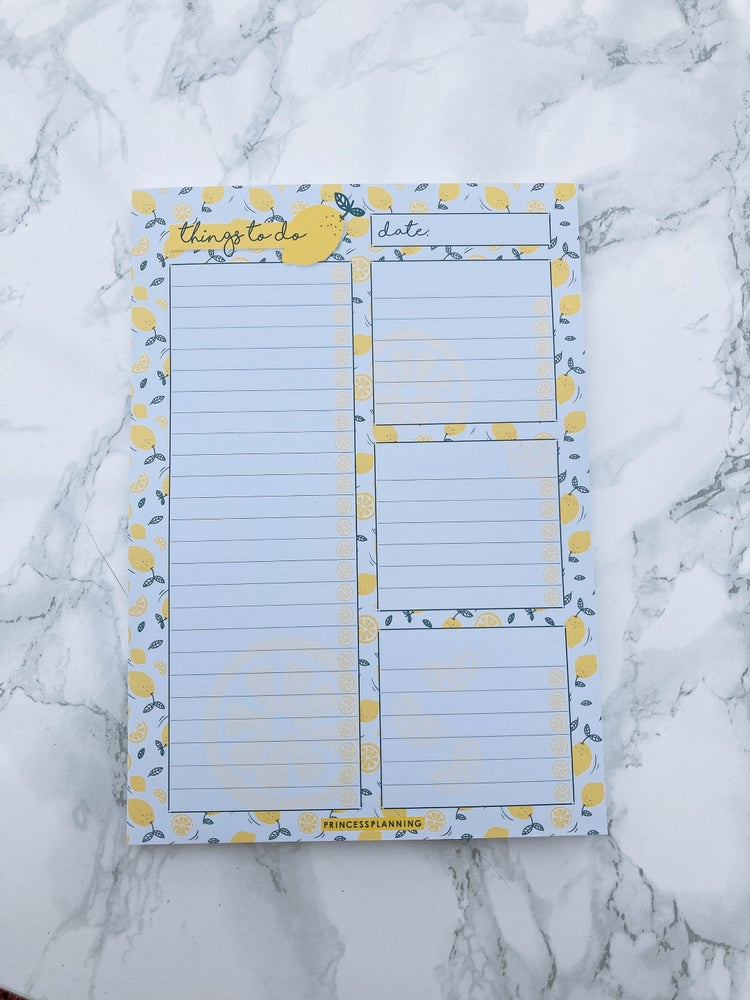 Image of A5 HANDY LEMON TO DO LIST NOTE PAD
