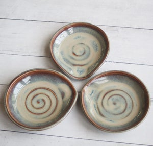 Image of Spoon Rest in Amber and Sage Glaze, Medium Sized Utensil Dish for Cooking Station