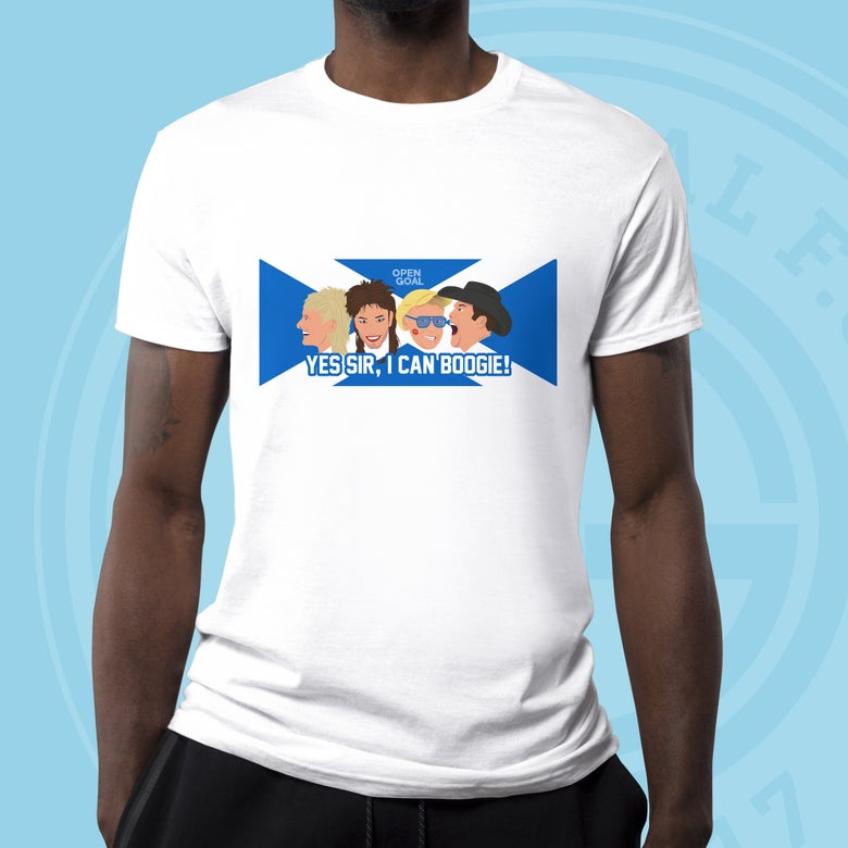 Image of Yes Sir, I Can Boogie - Open Goal Euro 2020 Tshirt  (White)