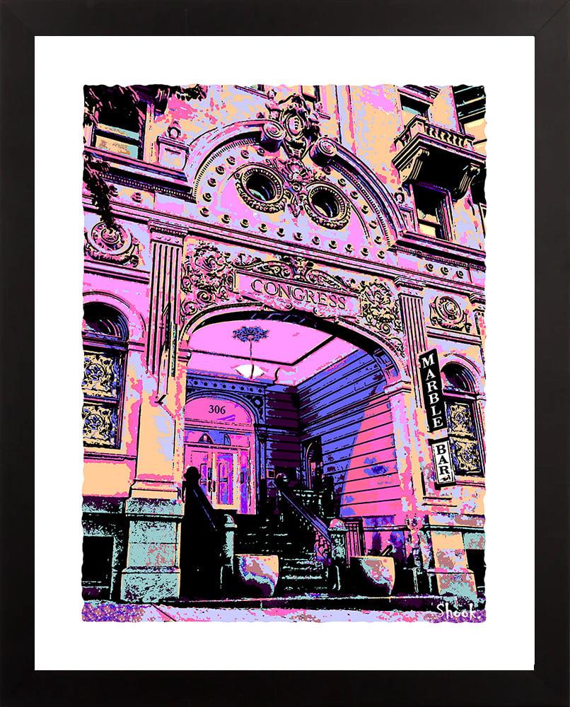 Congress Hotel/Marble Bar Baltimore 2021 Giclée Art Print (Multi-size options)