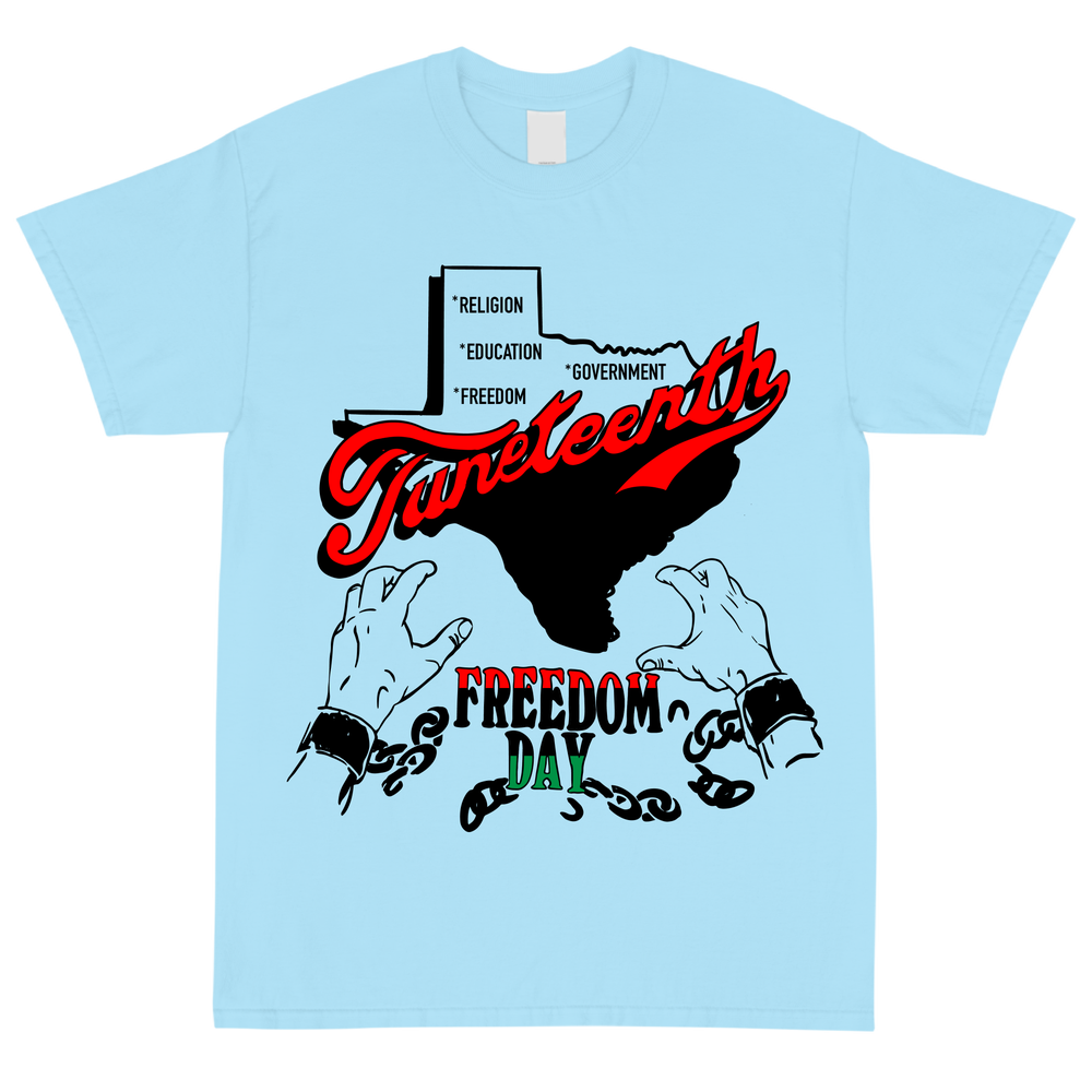 Image of Freedom Day Baby Blue T Shirt