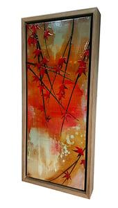 Image of Original Canvas - Japanese Maple on Crimson/Grey/Sienna - 50cm x 20cm