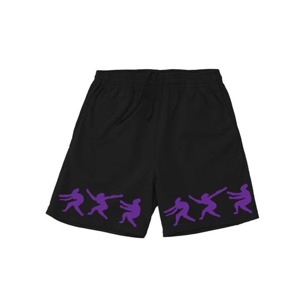 Image of Rhythm of the World purple trim Shorts