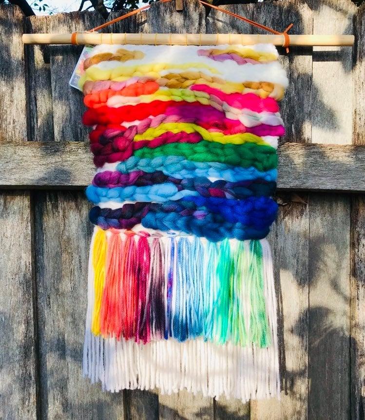 Image of Rainbow Waves Wall Hanging