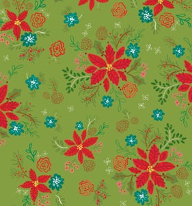 Image of Snowed In Floral Green