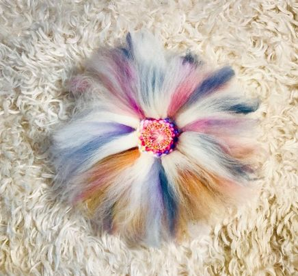 Image of Pastel Woven Roving Flower