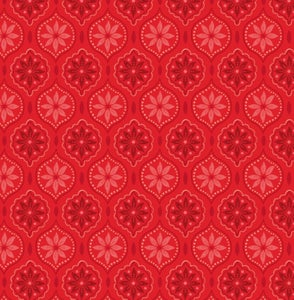Image of Snowed In Medallion Red