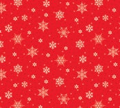 Image of Snowed In  Small Snowflakes in REd