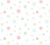 Image of Snowed In Small Snowflakes in White