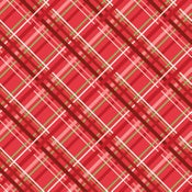 Image of Snowed In Plaid in Red
