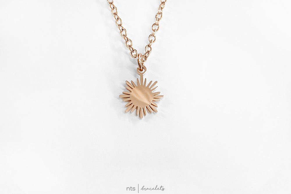 Image of FILIPINA SUN NECKLACE (Sun Pendant + Rose Gold)